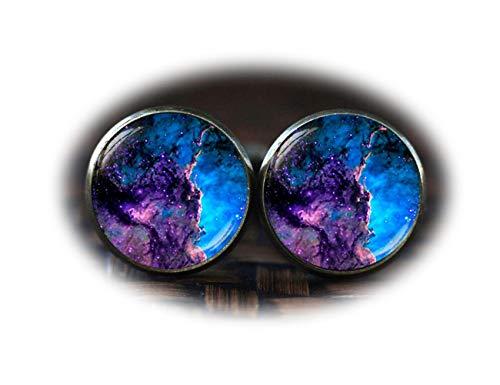 Nebula Boutons de manchette, Galaxy Boutons de manchette, capacité, boutons de manchette, Bleu Violet Boutons de manchette
