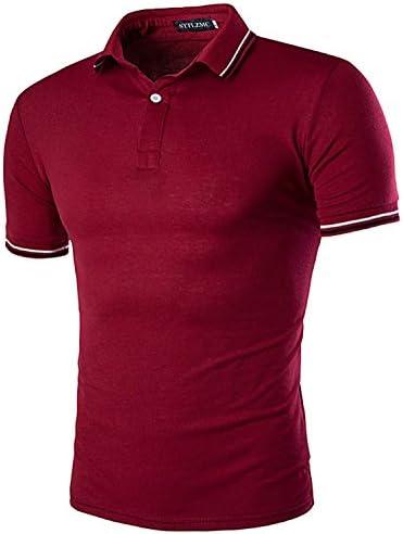 STTLZMC Polo para Hombre Casual botón Collar Camisa Golf Tenis: Amazon.es: Ropa y accesorios