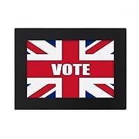 総選挙のための英国の英国国旗の票 デスクトップフォトフレーム画像ブラックは、芸術絵画7 x 9インチ