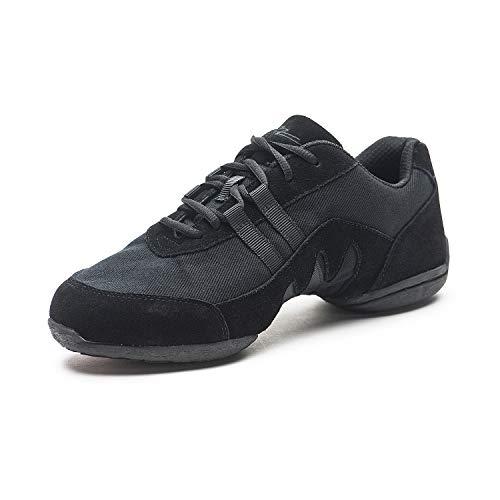 SANSHA Blitz 3 Dance Sneaker,Black,15 (13 M US Women's/10 M US Men's)