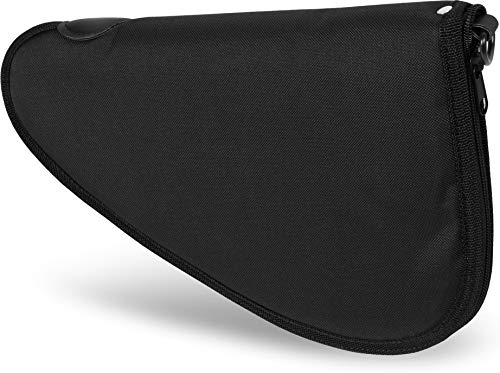 normani Abschließbare, weich gepolsterte Pistolentasche mit umlaufendem Reißverschluss und Abschließvorrichtung Farbe Black Größe S