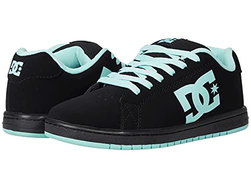 DC Women's Gaveler Casual Low Top Skate Shoes Sneakers Black/Aqua 7.5 B - Medium