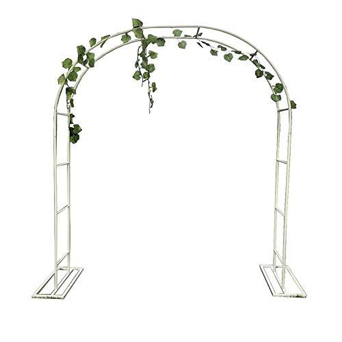 XDJ Arco per Piante Rampicanti, Arco da Giardino, Pergolato da Giardino, Bianco, Metallo, con Telaio di Supporto, Dimensioni Multiple, Decorazione Cerimonia di Cerimonia Nuziale Arco