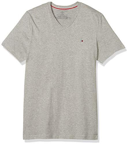 Tommy Hilfiger Men#039s Core Flag VNeck Tee Grey Heather XLarge