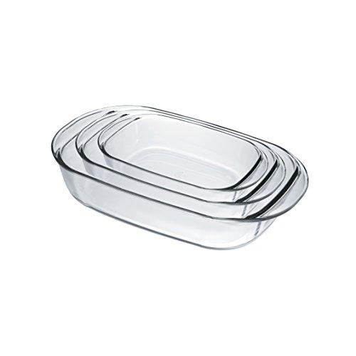 Duralex - Lot 3 Plats rectangles à four 33/38/41 cm Ovenchef