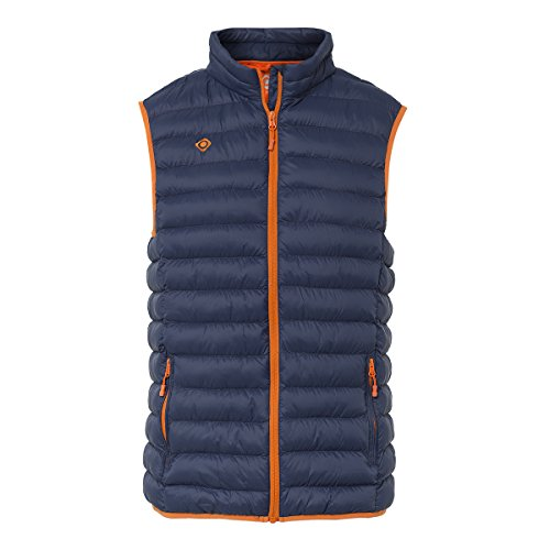 IZAS Tyree Gilet ultraléger Homme, Blue Moon/Orange, FR : M (Taille Fabricant : M)