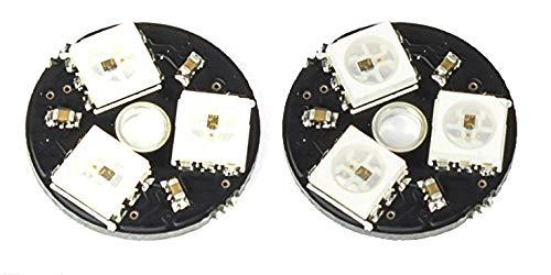 MissBirdler 2 Unidades 3 bits RGB LED Board WS2812 5050 5 V para Arduino Raspberry Pi Drone Racing FPV Betaflight