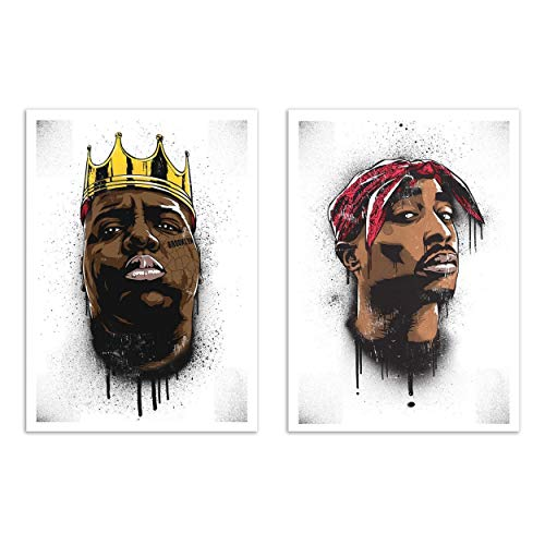 Wall Editions 2 Art-Posters 30 x 40 cm - Biggie and Tupac - Bokkaboom