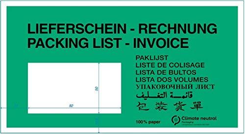 ÖKO-Dokumententasche aus PAPIER/GRÜN 240 x 130 mm DIN Lang /