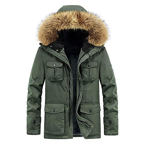 NW Chaqueta De Invierno Para Hombre Chaquetas Acolchadas De AlgodóN Con Forro Polar Grueso Abrigos De Parka Con Capucha Para Exteriores Para Hombre