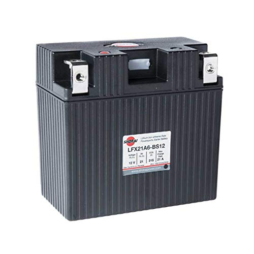 Shorai LFX21A6-BS12 LFX Lithium Iron Light Weight High Performance Motorcycle Battery for BMW Touring and Offroad Bikes - 21 Ah 12V 2.9 Lbs 315 CCA - RIGHT NEGATIVE TERMINAL - 5 YR WARRANTY