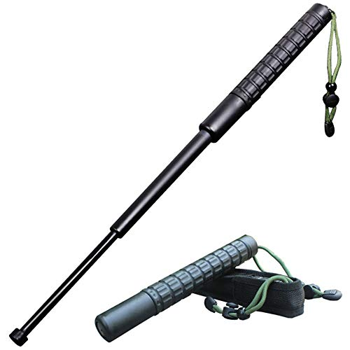 TSPORTS Extendable Handheld Telescopic Flag Pole,Portable Tool for Outdoor Activities,26inch Emergency Stick,Adjustable Walking Stick for Camping and Mountaineering Protection Tool