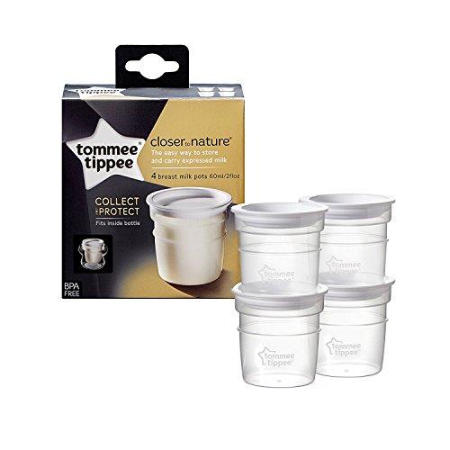 Tommee Tippee - Juego de 4 macetas para almacenamiento de leche (0 m)