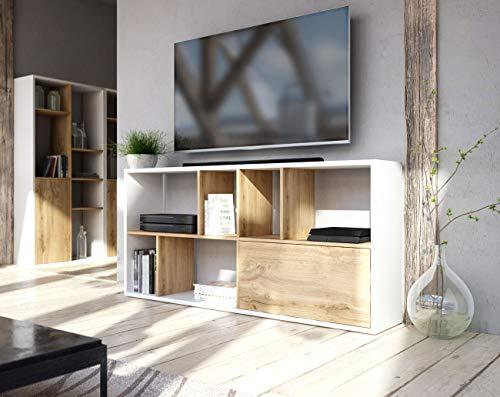 WFL GROUP Libreria contemporanea - Mobile TV - Mobile Versatile - Scaffale a 6 Livelli - Muro divisorio - per Soggiorno,...