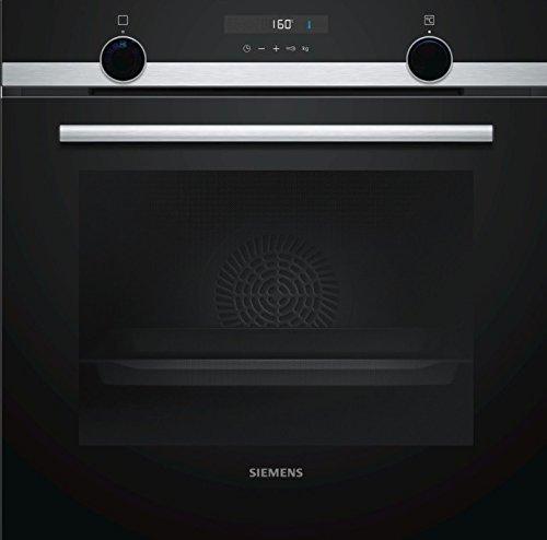 Siemens - Horno ecoClean Plus HB556ABS0 acabado cristal negro con acero inoxidable