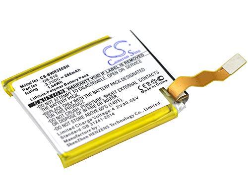TECHTEK batería sustituye GB-S10, para GB-S10-353235-0100 Compatible con [Sony] SmartWatch 3, SWR50