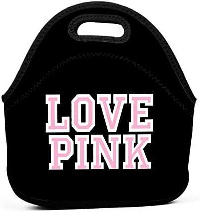 Victoria Secret Love Pink Bento Pouch Lunch Bag Picnic Storage Bag Tote Handbag Handbag product image