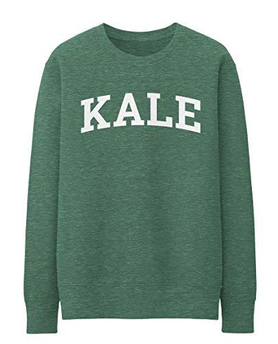 Mars NY Kale Sweatshirt Kale Crew-Neck Sweatshirt (Heather Green, XL)