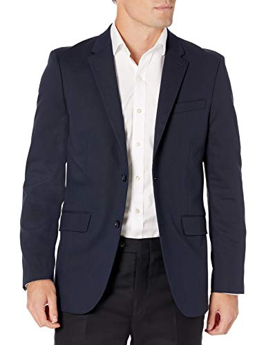 Suitmeister Solid Colored Suits - Includes Jacket, Pants & Tie, Solid Blue, Medium