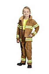 Kid's Tan Junior Firefighter Costume