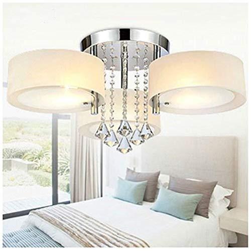 Yzibei schijnwerper in de open lucht E27 Moderne 3 koppen van kristallen LED-plafondlamp hanglampen met afstandsbediening