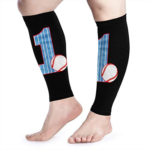 Wadenkompressions-Ärmel Leg Performance Support It's My 1st Birthday Baseball Leg Support Socks for Women Men 1 Pair