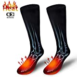 Electric Heated Socks, Cold Weather Thermal Foot Warmers Sport Outdoor Camping Hiking Warm