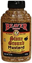 Beaver Stone Ground Mustard, 12 Ounce Squeeze Bottle