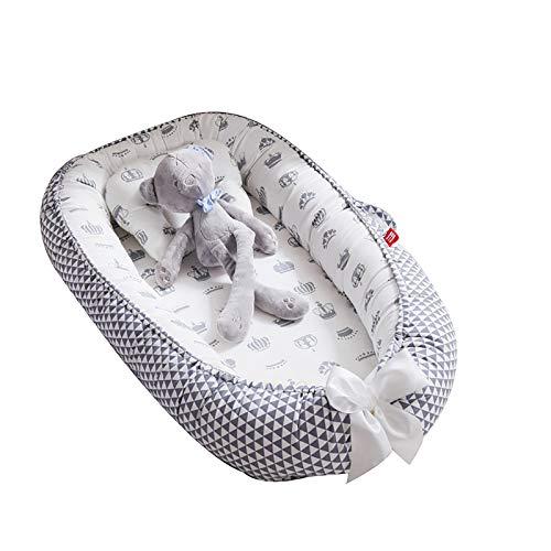 LJFZMD Cuna Bebe, Cama De Viaje para Bebé, Colchón De Viaje Plegable Portátil Suave, Impermeable, Transpirable, Colchón De Espuma para Bebé con Funda Extraíble con Cremallera