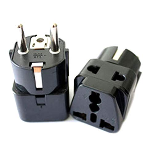 10pcs/lot 1to2 Universal AU EU US UK to German Plug Socket Germany Indonesia Travel Wall AC Power Charger Adapter Converter