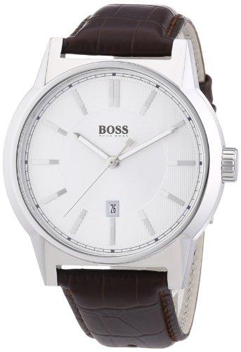 Hugo Boss 1512912 - Reloj de Cuarzo para Hombre, con Correa de Cuero, Color marrón