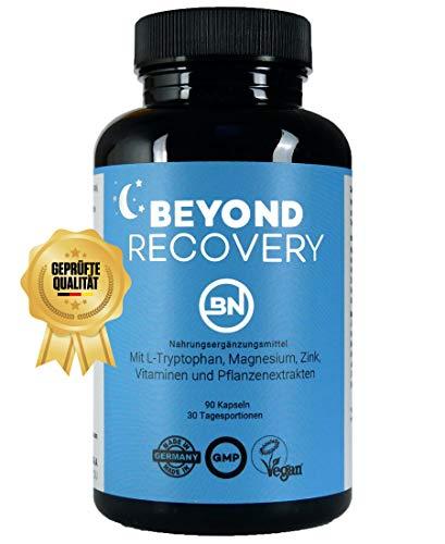 Beyond RECOVERY für die Nacht, 90 natürliche Kapseln ohne Melatonin, extra stark mit L-Tryptophan, Ashwagandha, Vitamin B6, Magnesium und Pflanzenextrakte