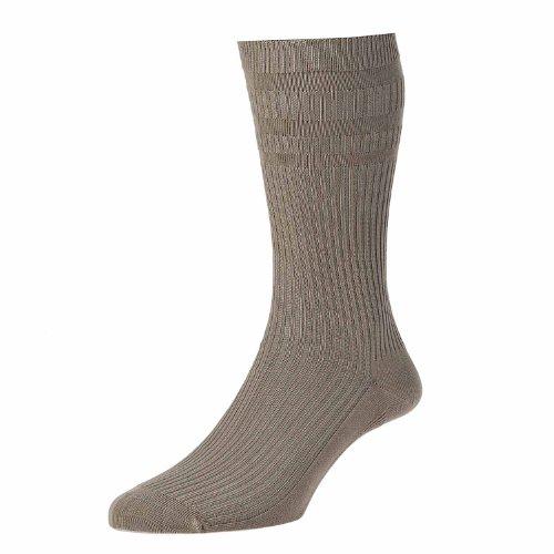 HJ Hall Herren Socken für den Alltag Socken, Einfarbig Gr. XX-Large, Braun - Taupe