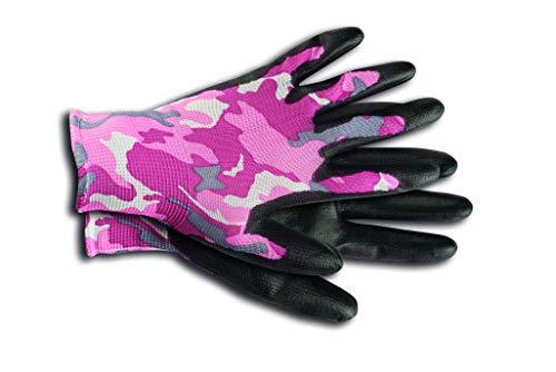 KIXX Nylon/Polyurethan Handschuh Camouflage, Pink, 9