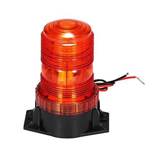 KKmoon Luz Estroboscópica 30 LED Faro Intermitente de Advertencia de Emergencia ámbar/Amarillo 15W para Vehículos