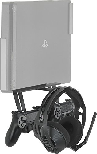 GamingXtra Holder for Controllers and Headphones for Sony PS4 and Xbox One Consoles – Black [Importación inglesa]