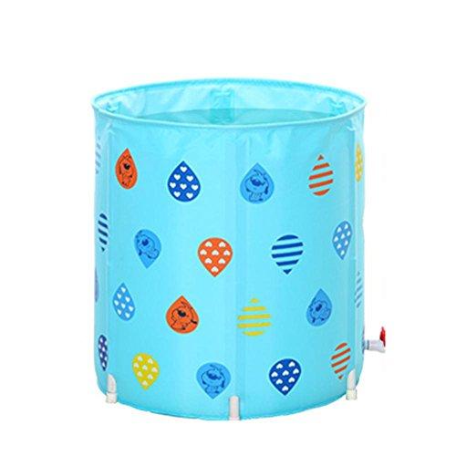Baignoire gonflable gonflable pliable gonflable pliable pour bébé de piscine d'adultes d'adultes de baignoire d'enfants , blue , 70cm