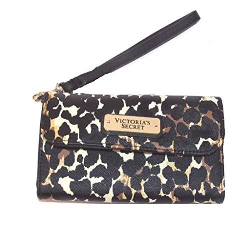 Victoria's Secret LEOPARD PRINTS Wristlet Clutch / Wallet / Phone Case NWT