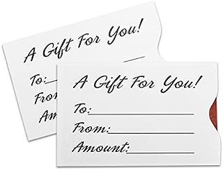 Gift Card Sleeve - White (100 pack)