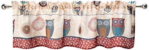 SKL Home by Saturday Knight Ltd. Spice Owl Valance, Multi, 58 inches x 13 inches