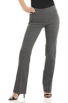Rekucci Women s Ease into Comfort Boot Cut Pant  18 Charcoal