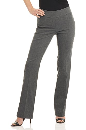 Rekucci Women's Ease into Comfort Boot Cut Pant (8,Charcoal)