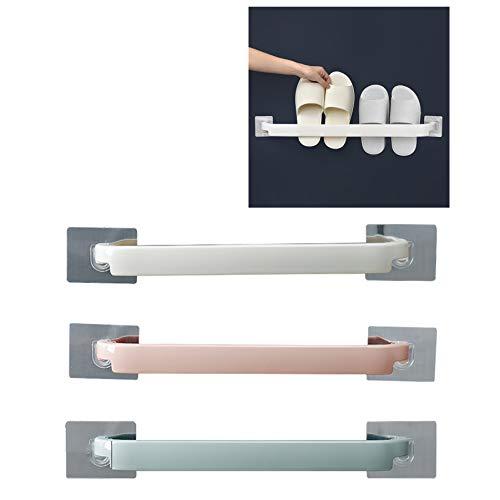 GY-Lmap Cuarto de baño Zapato montado en la pareadora Toaller, sin punzón, Zapatillas de zapatería de Almacenamiento, fácil de Pegar e Instalar (3pcs)