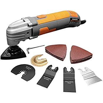 Cutting and Scraping Power Tool with 45 Piece Accessories Draper 300W Oscillating Multi Tool Multi Function Sanding