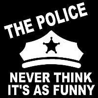 車のステッカーの装飾 15.3X15.5CM POLICE NEVERは、ITがASおかしいビニールステッカーカーステッカーカースタイリングアクセサリーだと思います (Color Name : Silver)