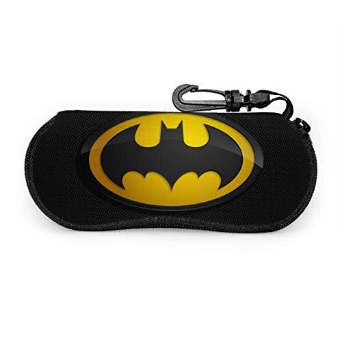 Bat-Man Glasses Case Sunglasses Organizer Ultra Soft Light Neoprene Zipper Eyeglass Case Hangable
