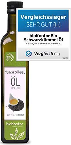 bioKontor // BIO Schwarzkümmelöl ägyptisch - nativ, kaltgepresst, 100% rein - 500 ml