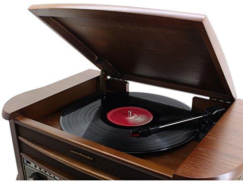 Soundmaster NR545DAB - Platine Tourne Disque (3,5 mm, Marron, en Bois, LCD, 500 x 340 x 210 mm)