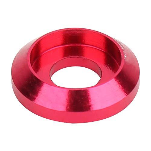 20PCS 6061 M3 Junta de tornillo de aleación de aluminio Arandela cónica Calce Tornillos de cabeza hexagonal Arandela(Hot Pink)