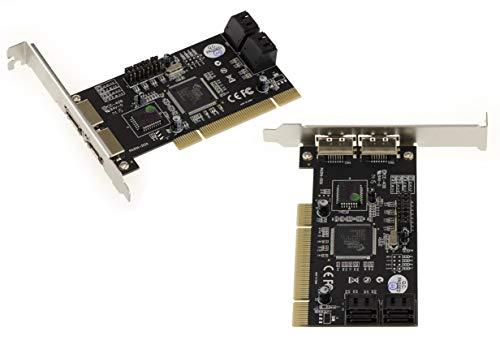 Kalea Informatique Controller-Karte PCI 4 + 2 Ports SATA/eSATA 6G Chipsatz Marvell 88SE9230 – Raid 0/1/5/0+1